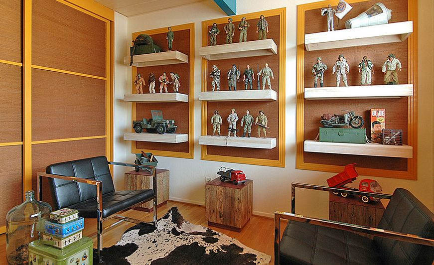 Superb Home Decor Ideas For Men Part - 10: Floating-shelves-to-display-collection