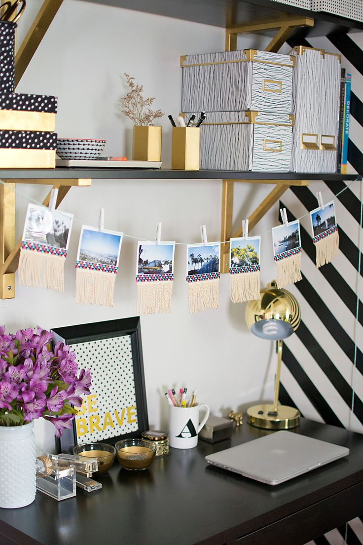 fringed photo garland