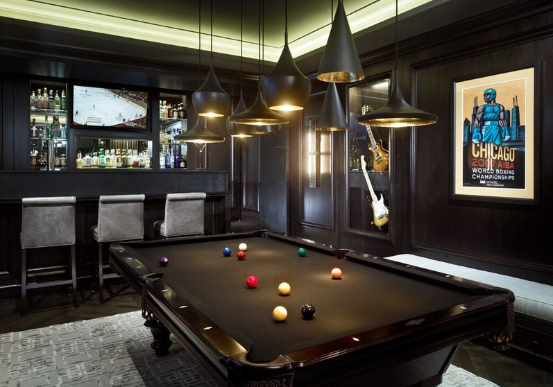 Nice Pool Room Design Ideas Part - 1: Gaming-room-with-pool-table