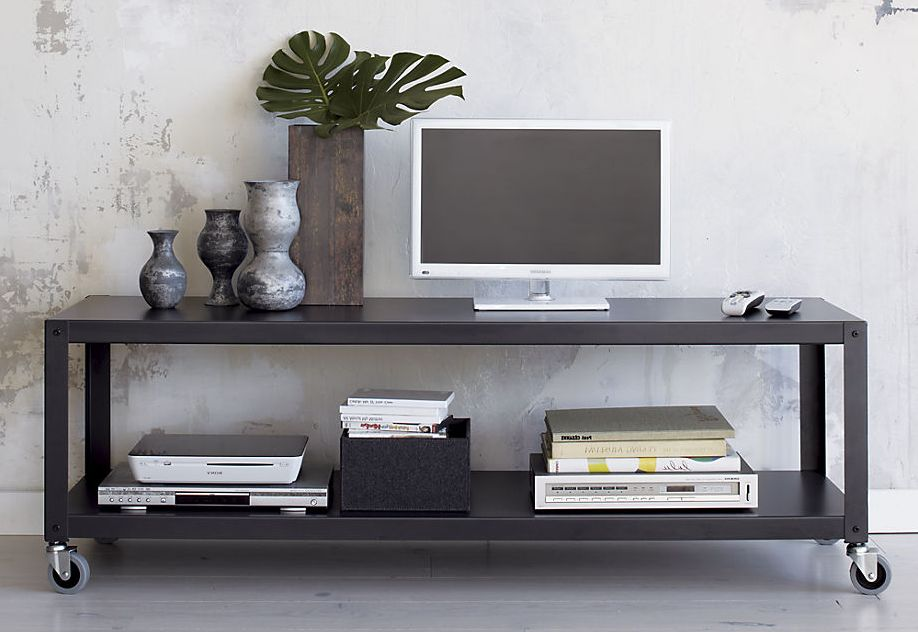 go-cart-carbon-grey-two-shelf-table-media-cart