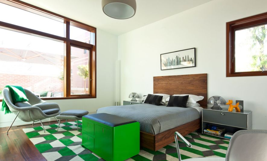 Green And Grey Youth Bedroom