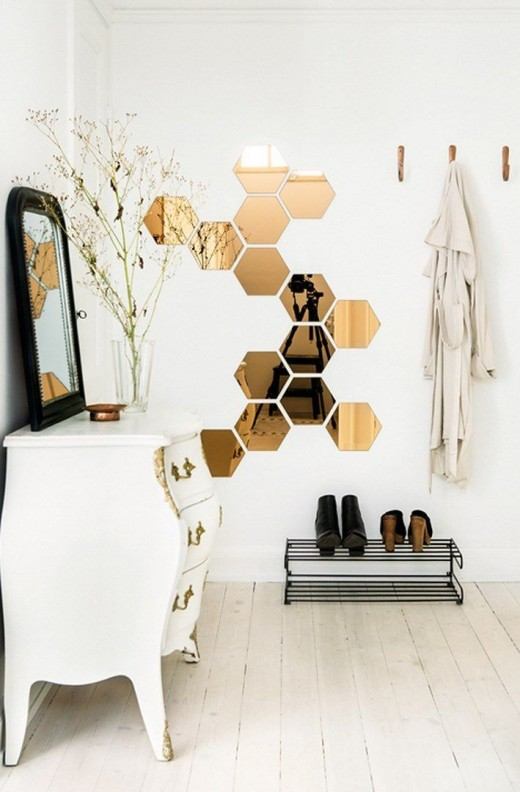 honeycomb-shaped mirrors