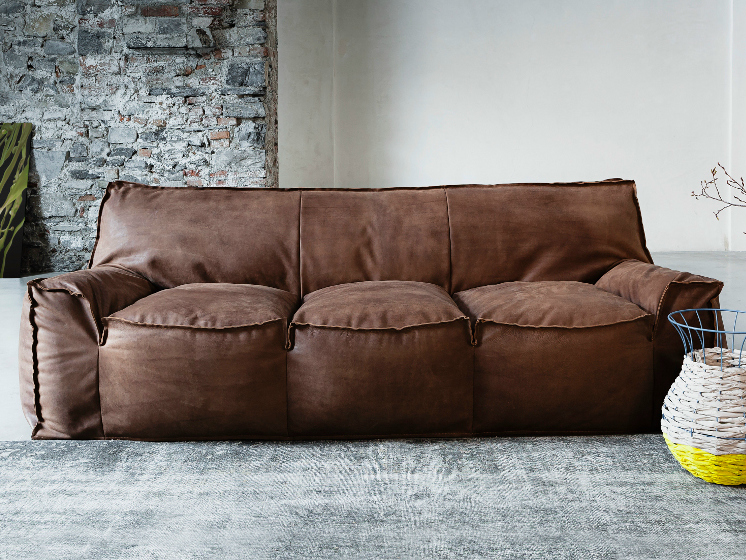 Superieur Jelly Leather Sofa