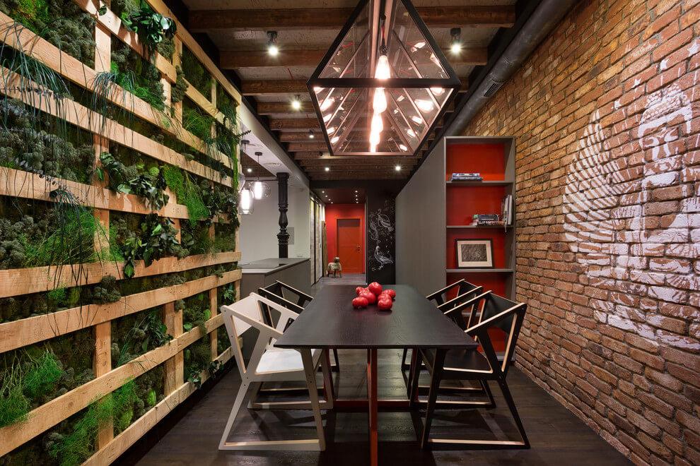 kiev-bachelor-pad-dining-area-brick-wall