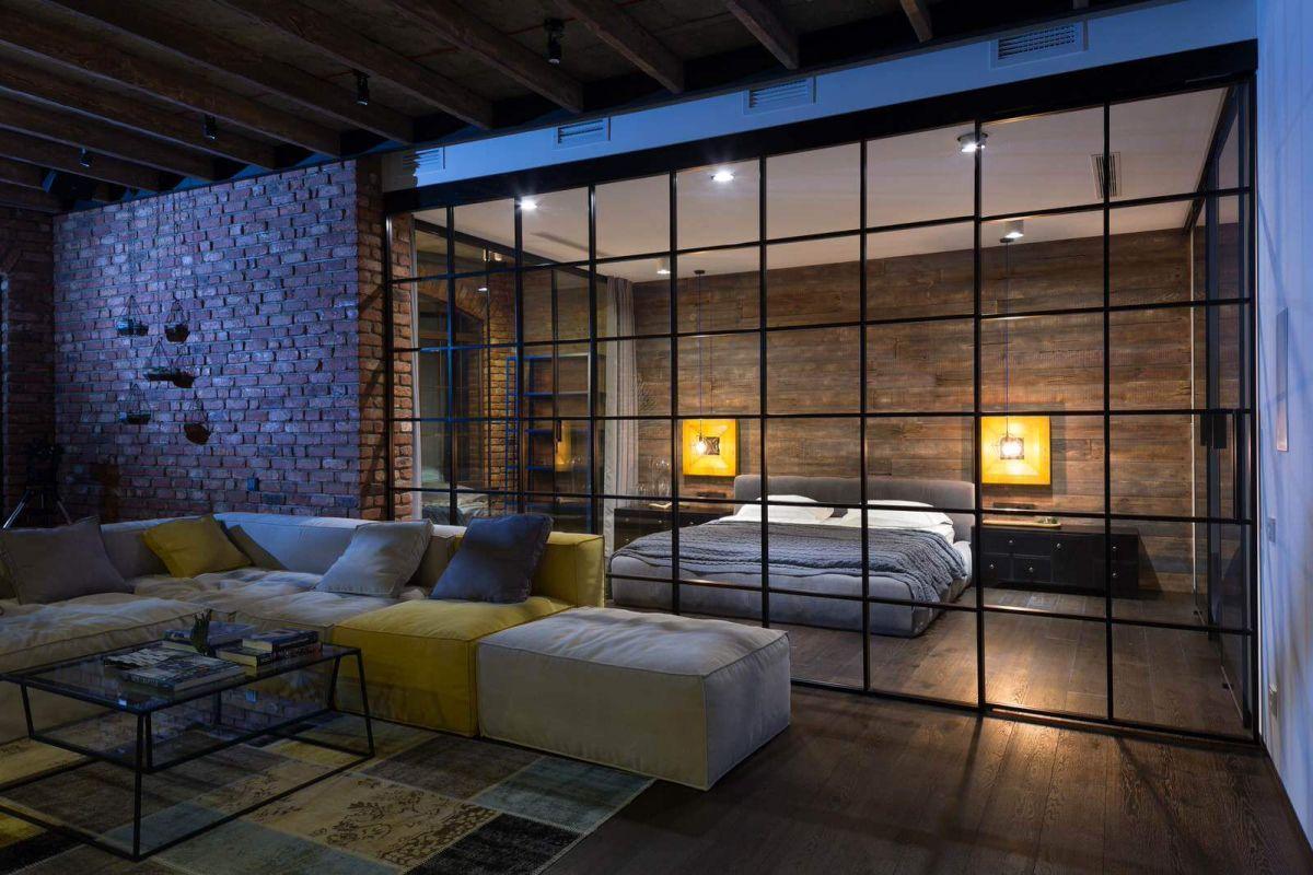 kiev-bachelor-pad-living-room-bedroom-glass-partition