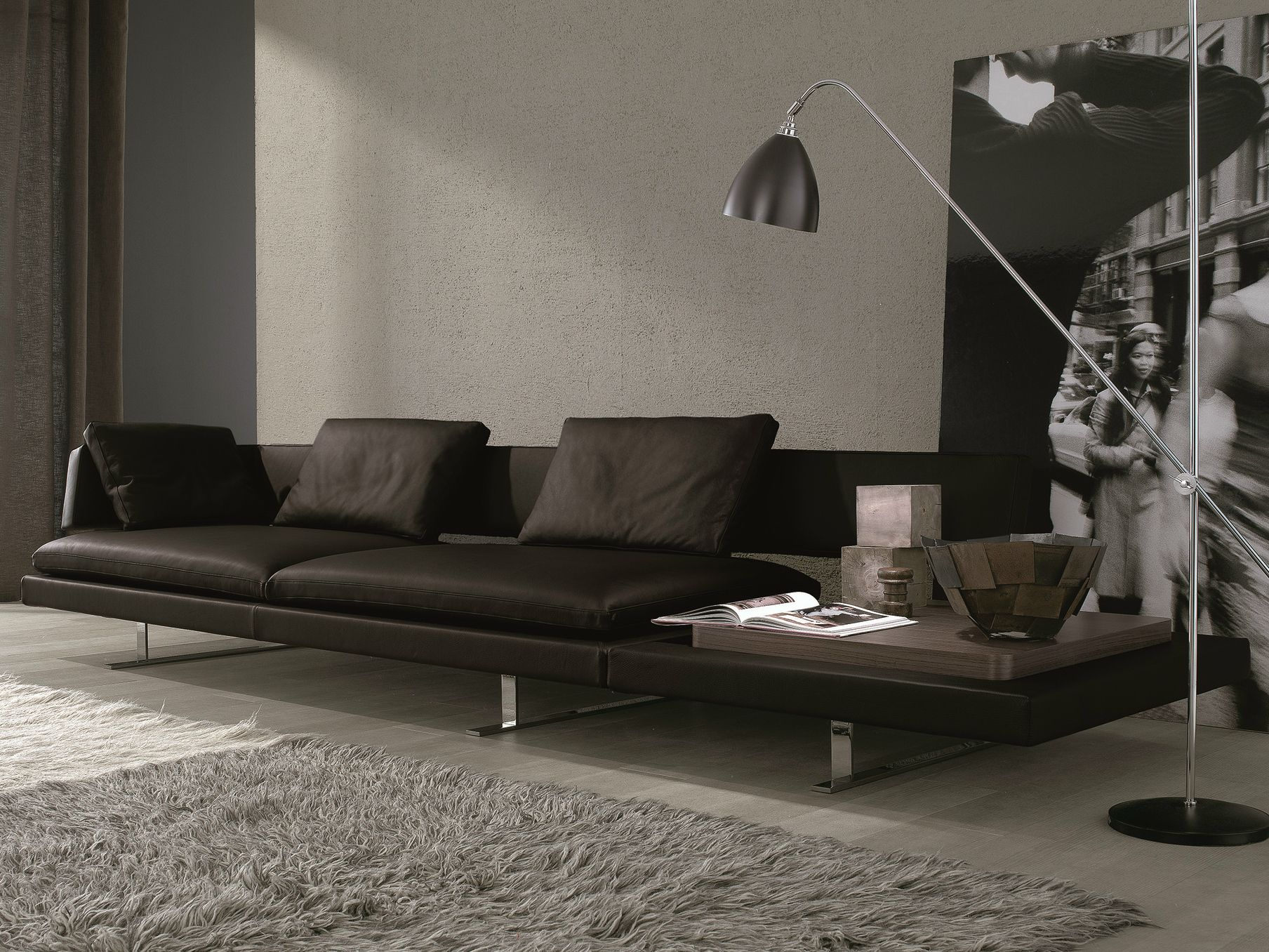 Beau Leather Sofa ByMauro Lipparini