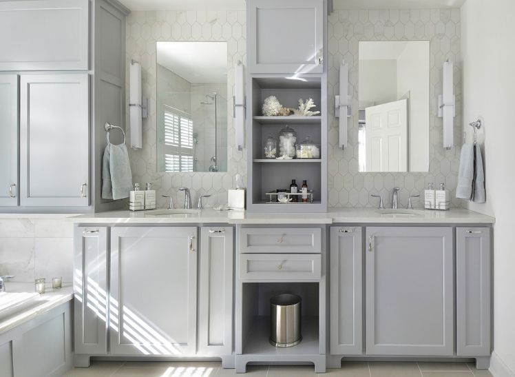 surprising Gray Bathroom Colors Part - 13: light-gray-bathroom-color