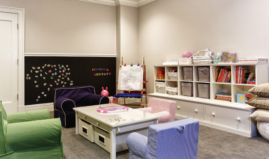 lower storage system for playroom area & Kid-Friendly Playroom Storage Ideas You Should implement