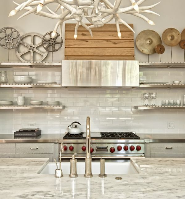 Make A Small Kitchen Look Bigger: How To Mix And Match Stainless Steel Kitchen Shelves With