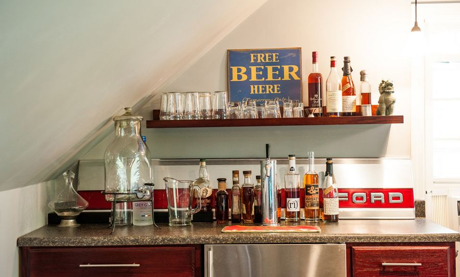 man cave home bar