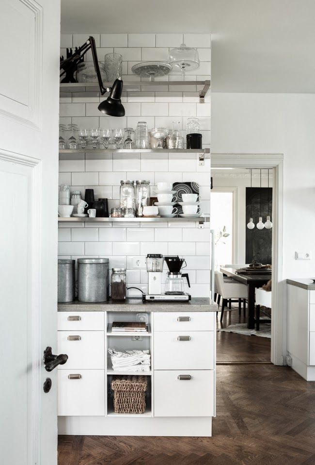 Monochrom-Küchen-Design