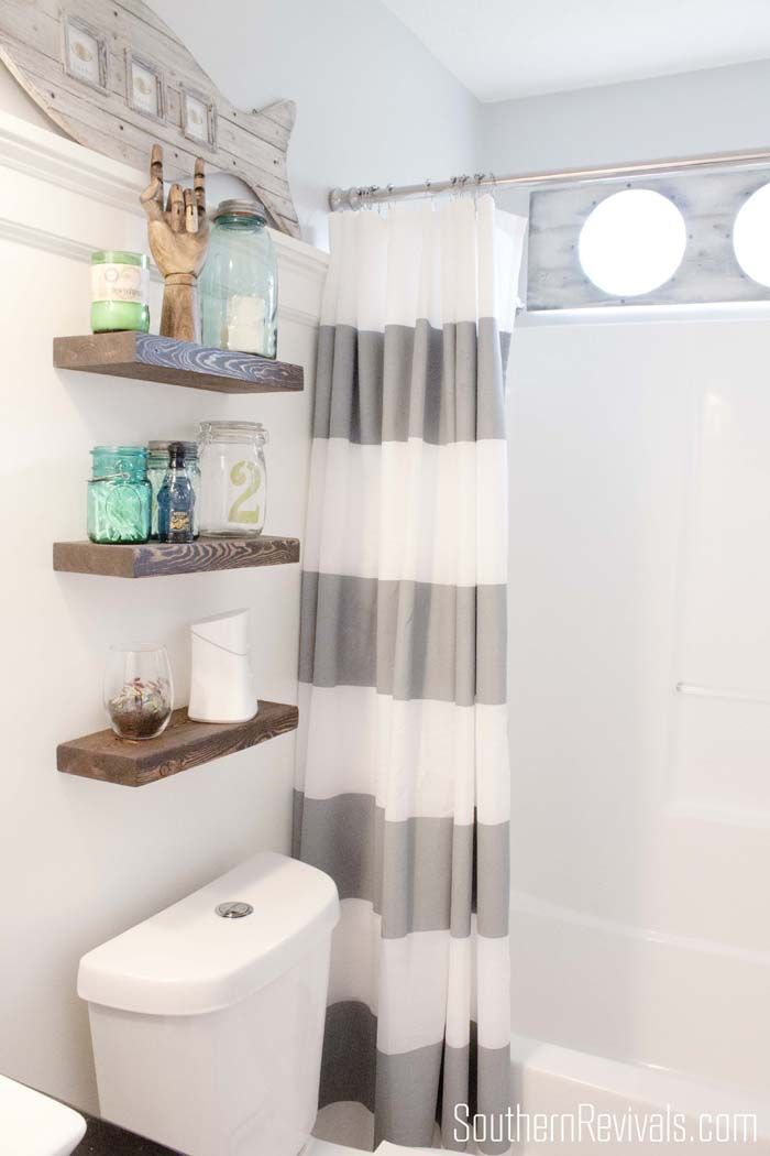Over the toilet storage and design options for small bathrooms for Bathroom decor inspiration