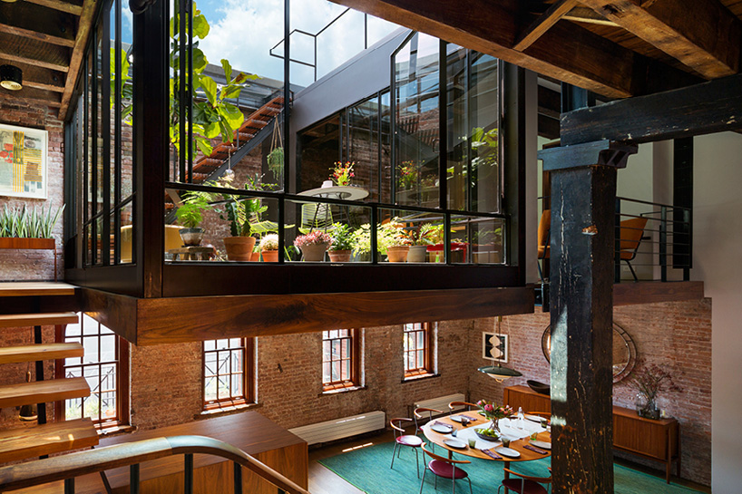 Old Warehouse Turned Into A Loft With Interior Court And Glass Roof