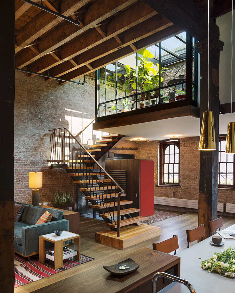 Old Warehouse Turned Into A Loft With Interior Court And