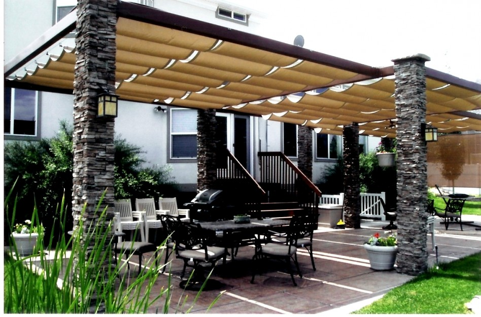 outdoor-pillars-patio-canopy & 20 Stylish Outdoor Canopies For the Home