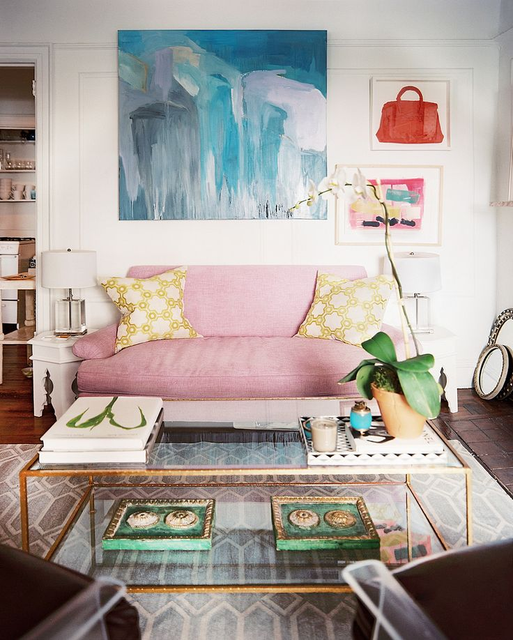 pale pink couch