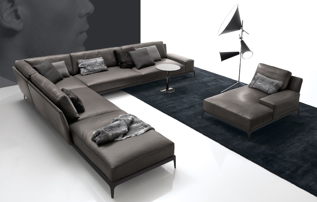 Park Sectional Leather Sofa