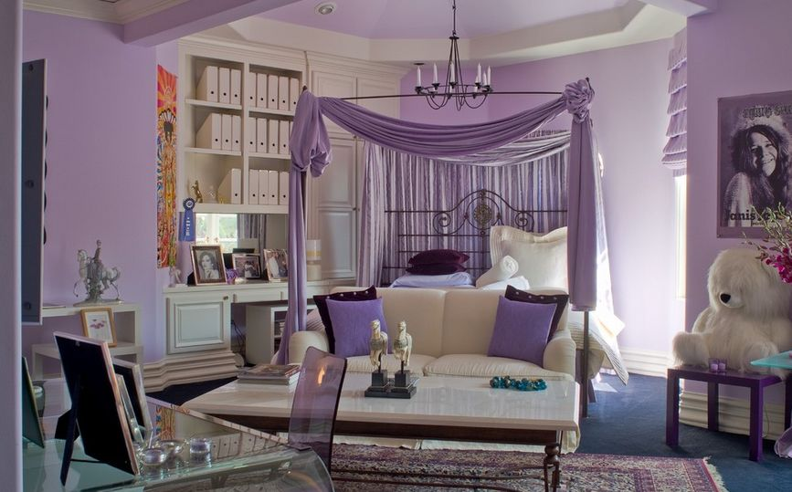 purple-themed-princess-room