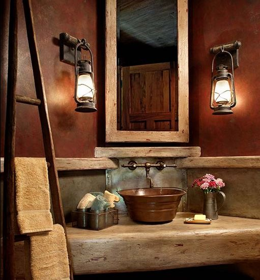 rustic-corner-bathroom