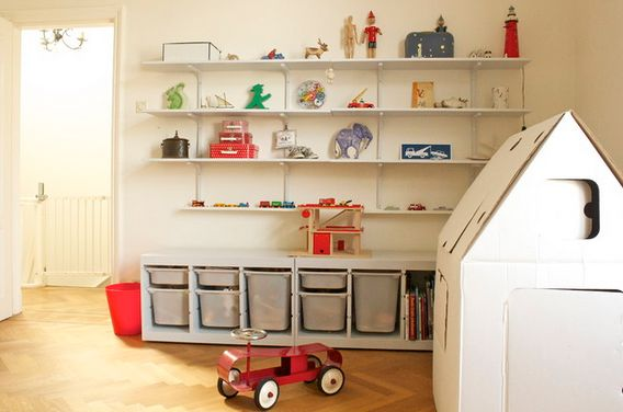 kid friendly playroom storage ideas you should implement rh homedit com Playroom Storage Furniture Playroom Shelving Floor