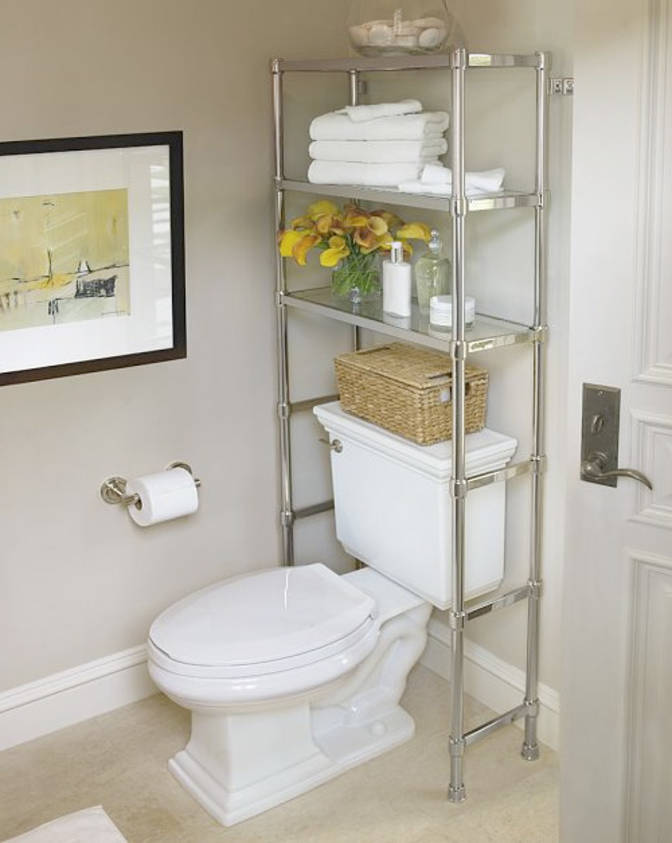Over The Toilet Storage And Design Options For Small Bathrooms - Toilet organizer for small bathroom ideas
