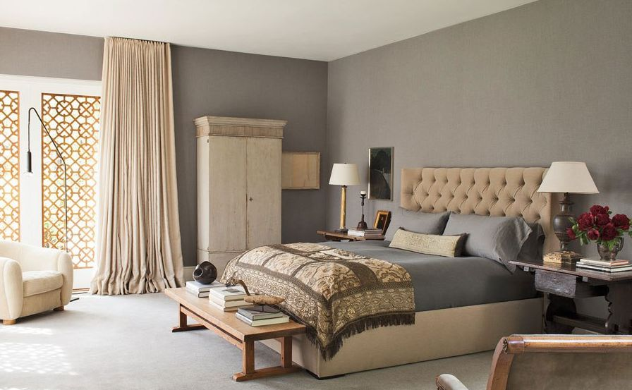 High Quality Silky Taupe Walls Bedroom