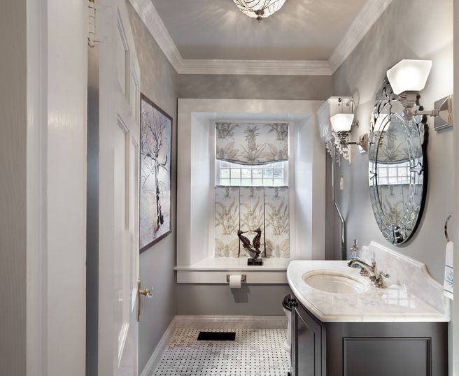 Small Bathroom Grey Design