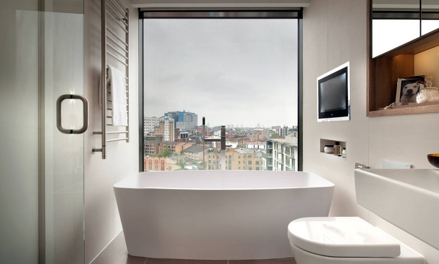 Superb Small Bathroom With Big View