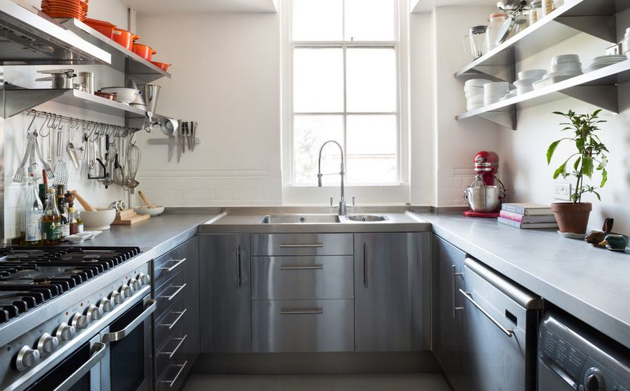 Stainless Steel Kitchen Design how to mix and match stainless steel kitchen shelves with your style