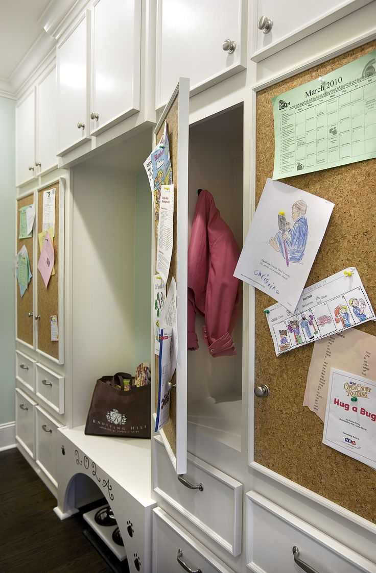storage cabinets cork board