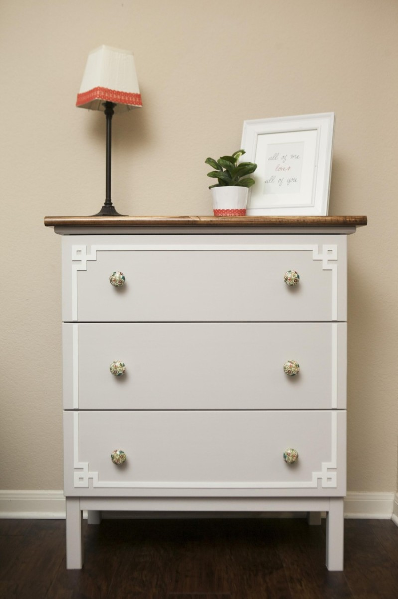 White ikea dresser hacks and transformations for Ikea tarva hack de lit