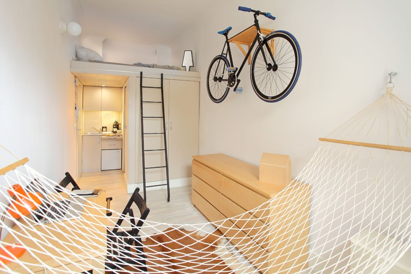 Tiny Poland Apartment Hammock