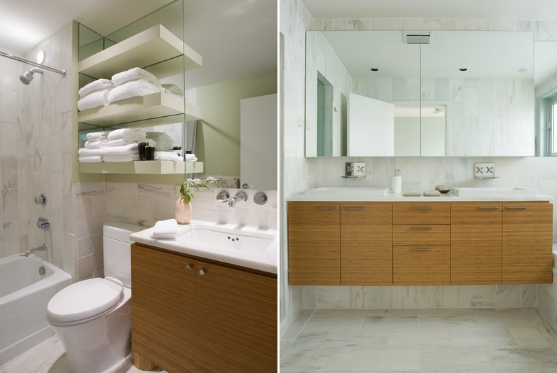 Over The Toilet Storage And Design Options For Small Bathrooms - Towel storage shelves for small bathroom ideas