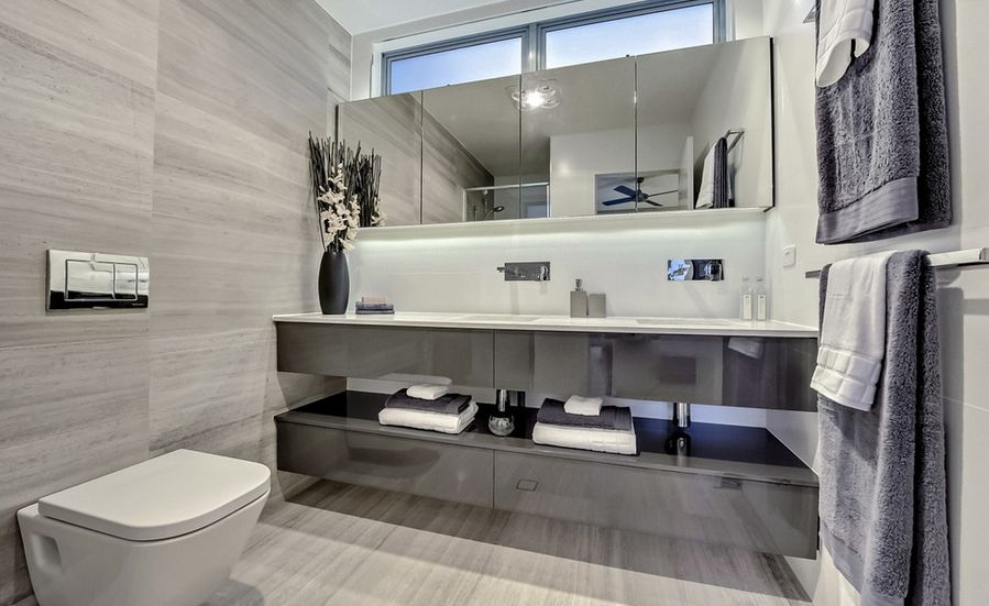 Designs For Gray Bathrooms