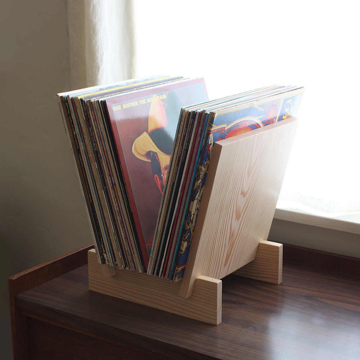 Viny Record Storage Solid Wood Stand