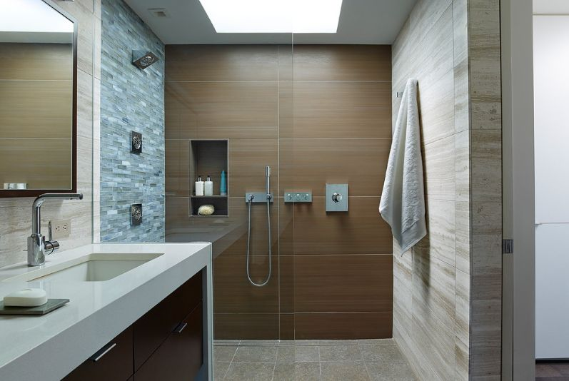 walk in shower design featuring a gray color - Bathroom Ideas Gray