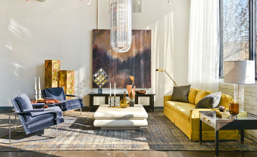 To Design With And Around A Yellow Living Room Sofa