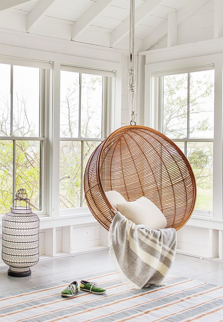 Bon Wicker Bubble Chair Wood
