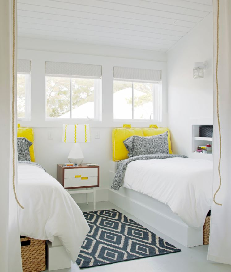 Yellow Accents For Bathroom