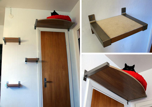 Above the wall cat crib