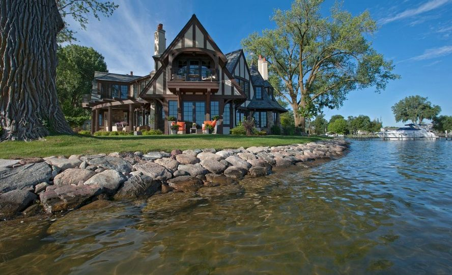 Amazing lake views from this tudor style house