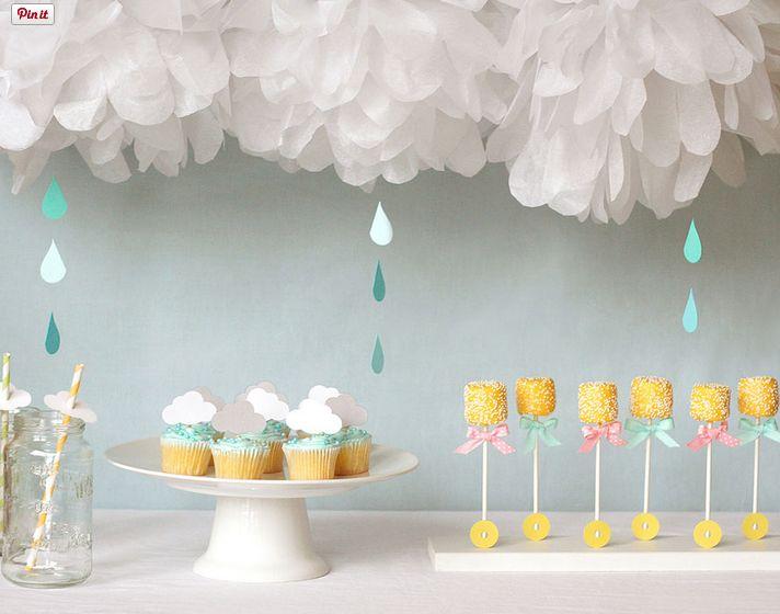 Baby Shower Raining Theme