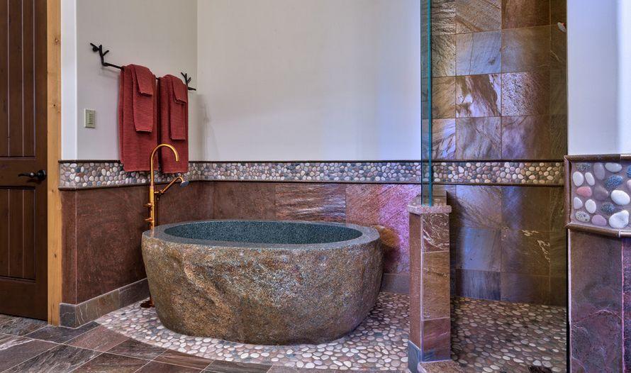 Bathroom Pebbles Flooring