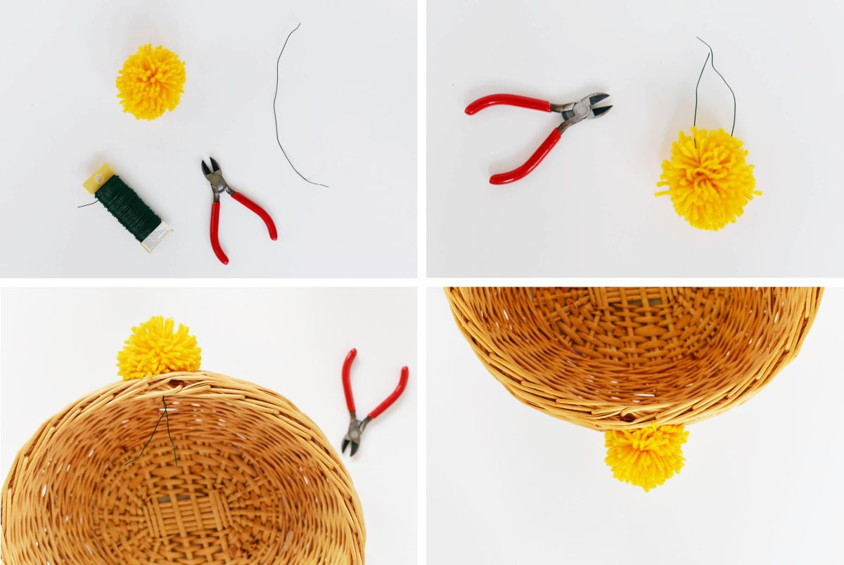 Beautiful DIY Pom Pom Basket Instructions1
