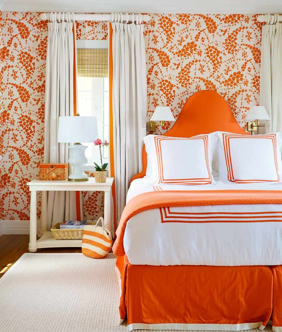 Bold Orange Bedroom