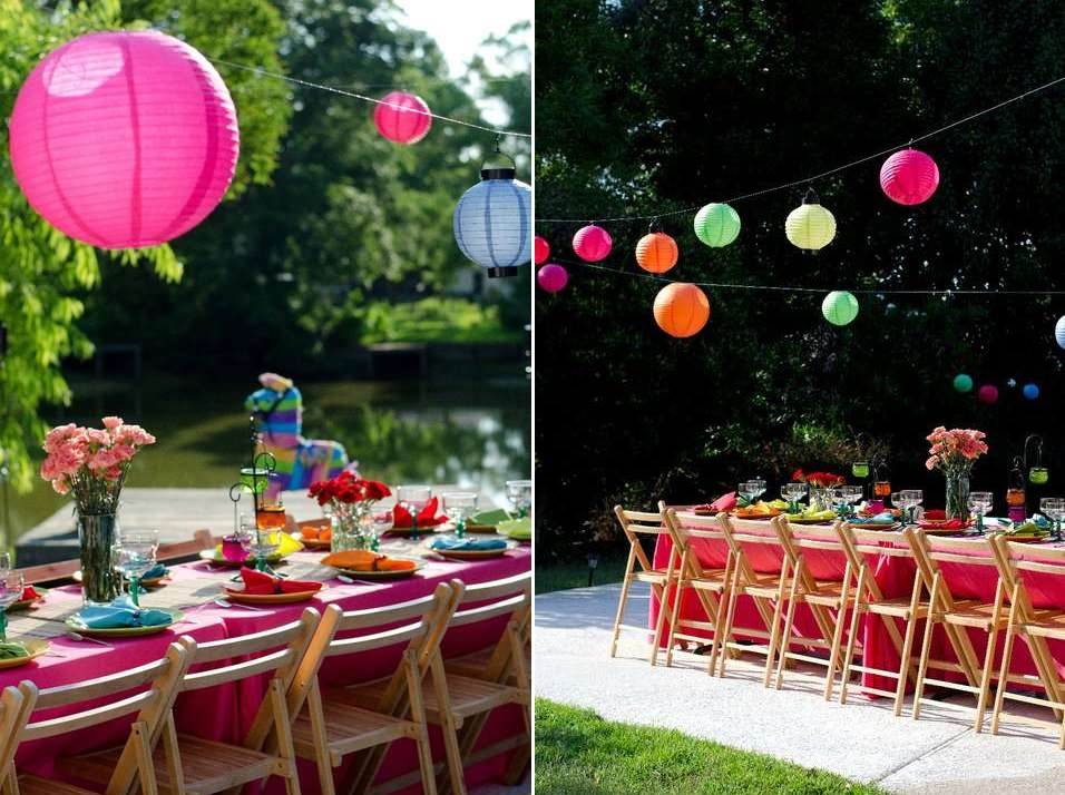 Bright and festive party theme