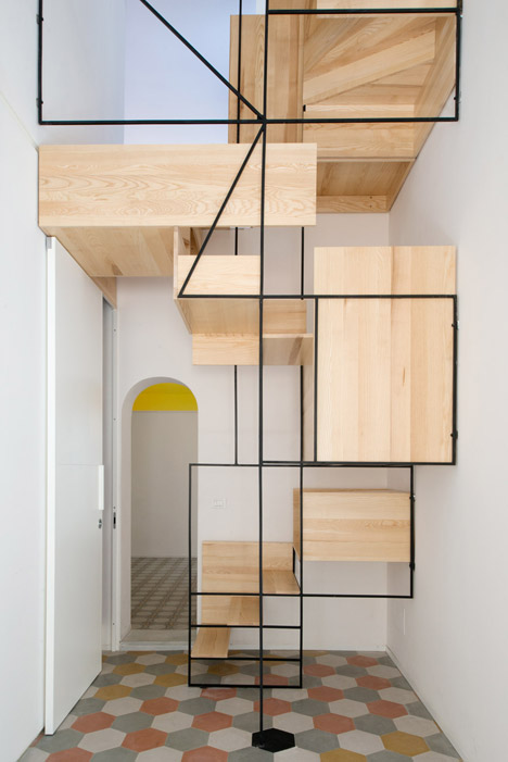 Casa-G-Francesco-Librizzi Geometric Staircase