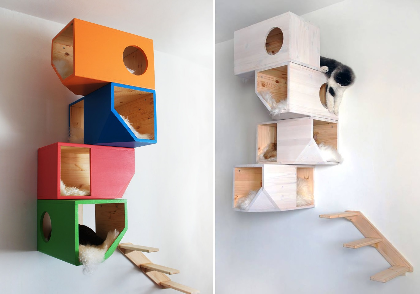 wall tree furniture. catissa geometric design for cats wall tree furniture e