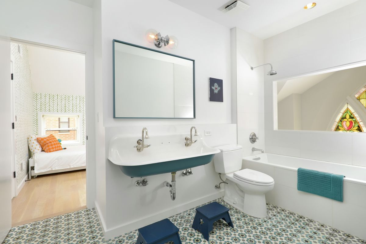 Church Bathroom Designs old church converted into an eclectic family home