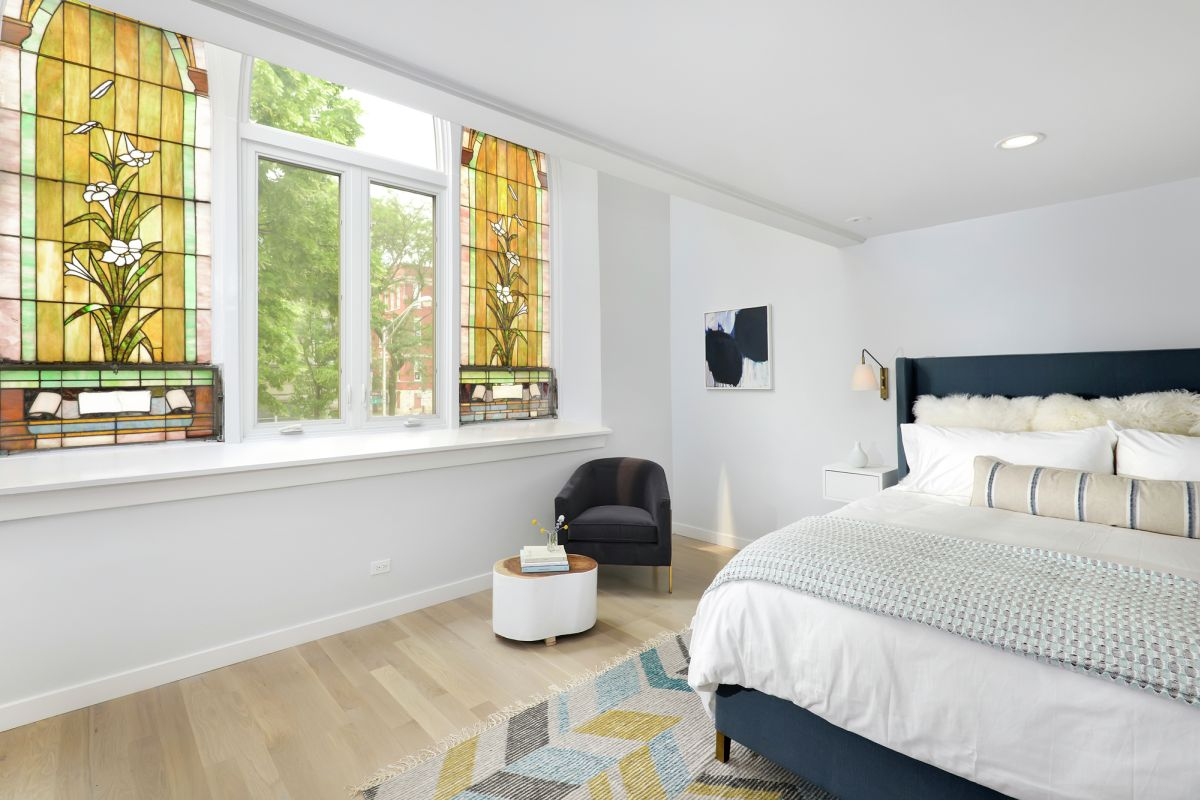 Church Conversion into a Residence Bedroom